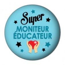 """Cabochon en Résine à Coller """"Super Moniteur-Educateur"""" 25mm pour la Création de Bijoux Fantaisie - DIY"""