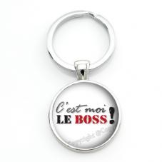 """Porte-clé """"C'est Moi le Boss"""" Cadeau Original Humour Anniversaire Noël pour la Création de Bijoux Fantaisie - DIY"""