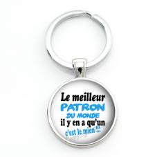 """Porte-clé """"Le Meilleur Patron du Monde"""" Cadeau Original Humour Anniversaire Noël pour la Création de Bijoux Fantaisie - DIY"""