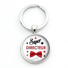 """Porte-clé """"Super Directeur"""" Cadeau Original Humour Anniversaire Noël pour la Création de Bijoux Fantaisie - DIY"""