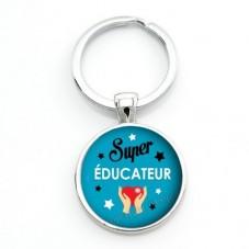 """Porte-clé """"Super Educateur"""" Cadeau Original Humour Anniversaire Noël pour la Création de Bijoux Fantaisie - DIY"""