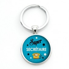 """Porte-clé """"Super Secréatire"""" Cadeau Original Humour Anniversaire Noël pour la Création de Bijoux Fantaisie - DIY"""