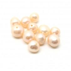 10 Perles de Culture d'Eau Douce Couleur Pêche 7-8mm pour la Création de Bijoux Fantaisie - DIY
