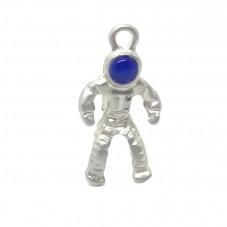 Breloque Astronaute Argenté 13x25mm pour la Création de Bijoux Fantaisie - DIY