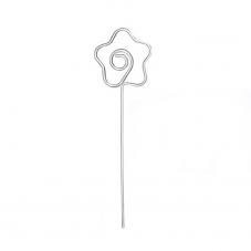 2 Tiges Métalliques Fleur Porte-Photo Marque-Place 12,8cm