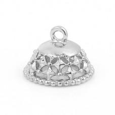 2 Coupelles Calottes Argentées pour Perles de 10mm de Diamètre  pour Perles pour la Création de Bijoux Fantaisie - DIY