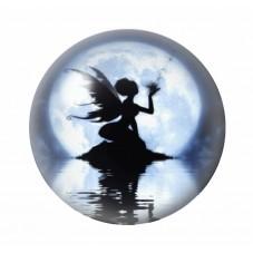 Cabochon en Verre Illustré Fée Lune 12 à 25mm pour la Création de Bijoux Fantaisie - DIY