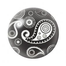 Cabochon en Verre Illustré Noir et Blanc 12 à 25mm pour la Création de Bijoux Fantaisie - DIY