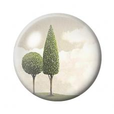 Cabochon en Verre Illustré Arbres 12 à 25mm pour la Création de Bijoux Fantaisie - DIY