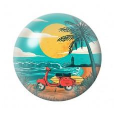 Cabochon en Verre Illustré Exotique Mer Eté 12 à 25mm pour la Création de Bijoux Fantaisie - DIY