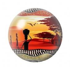 Cabochon en Verre Illustré Exotique Afrique 12 à 25mm pour la Création de Bijoux Fantaisie - DIY