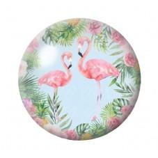 Cabochon en Verre Illustré Exotique Flamants Roses 12 à 25mm pour la Création de Bijoux Fantaisie - DIY