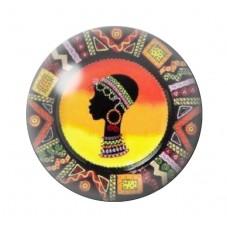 Cabochon en Verre Illustré Exotique Femme Africaine 12 à 25mm pour la Création de Bijoux Fantaisie - DIY