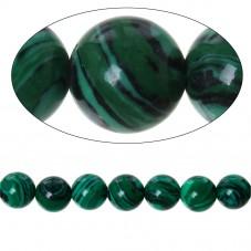 10 Perles Pierre Naturelle Malachite 6mm pour la Création de Bijoux Fantaisie - DIY
