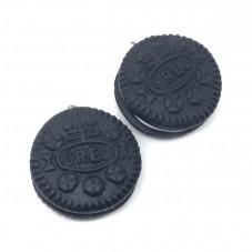 2 Breloques Biscuit en Pâte Polymère 25mm pour la Création de Bijoux Fantaisie - DIY