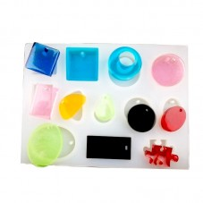 Moule en Silicone 12 Pendentifs pour Création en Résine Fimo - Création de Bijoux Fantaisie - DIY