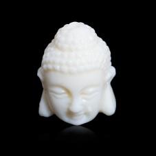 4 Perles Bouddha en Corail Synthétique Couleur Ivoire 16x11mm pour la Création de Bijoux Fantaisie - DIY