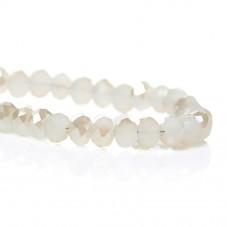 145 Perles en Verre à Facettes Blanc 4mm la Création de Bijoux Fantaisie - DIY