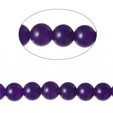 10 Perles Pierre Naturelle Agate Violette 6mm pour la Création de Bijoux Fantaisie - DIY