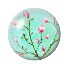 Cabochon en Verre Branche Fleur Cerisier 12 à 25mm pour la Création de Bijoux Fantaisie - DIY
