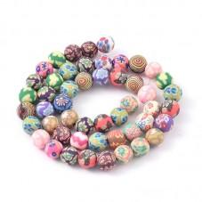50 Perles en Pâte Polymère Fimo 8mm pour la Création de Bijoux Fantaisie - DIY