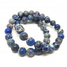 5 Perles Pierre Naturelle Turquoise Bleu 8mm pour la Création de Bijoux Fantaisie - DIY
