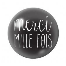 """Cabochon en Verre Illustré """"Merci milles fois""""12 à 25mm pour la Création de Bijoux Fantaisie - DIY"""
