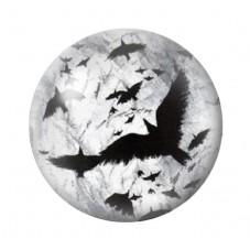 Cabochon en Verre Illustré Corbeaux Gothique 12 à 25mm pour la Création de Bijoux Fantaisie - DIY