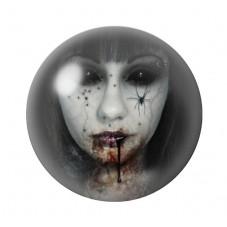Cabochon en Verre Illustré Femme Araignée Gothique 12 à 25mm pour la Création de Bijoux Fantaisie - DIY