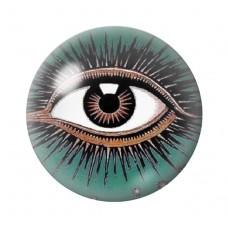 Cabochon en Verre Illustré Oeil Mystique Divination12 à 25mm pour la Création de Bijoux Fantaisie - DIY
