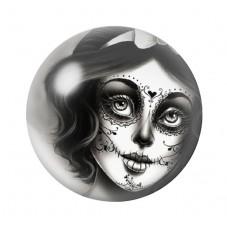 Cabochon en Verre Illustré Blanche-Neige Princesse Gothique 12 à 25mm pour la Création de Bijoux Fantaisie - DIY