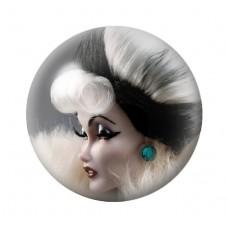 Cabochon en Verre Illustré Poupée Blythe Gothique 12 à 25mm pour la Création de Bijoux Fantaisie - DIY