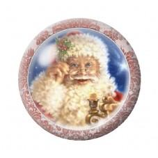 Cabochon en Verre Illustré Père-Noël 12 à 25mm pour la Création de Bijoux Fantaisie - DIY