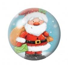 Cabochon en Verre Illustré Père-Noël Hotte 12 à 25mm pour la Création de Bijoux Fantaisie - DIY