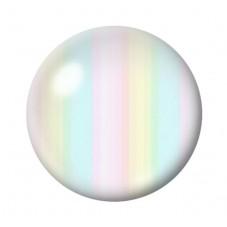 Cabochon en Verre Illustré Rayures Pastels 12 à 25mm pour la Création de Bijoux Fantaisie - DIY
