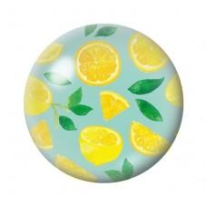 Cabochon en Verre Illustré Citrons 12 à 25mm pour la Création de Bijoux Fantaisie - DIY