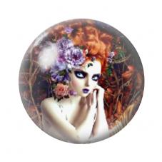 Cabochon en Verre Illustré Femme 12 à 25mm pour la Création de Bijoux Fantaisie - DIY