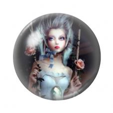 Cabochon en Verre Illustré Femme Balançoire 12 à 25mm pour la Création de Bijoux Fantaisie - DIY