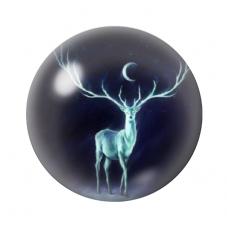 Cabochon en Verre Illustré Cerf 12 à 25mm pour la Création de Bijoux Fantaisie - DIY