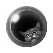 Cabochon en Verre Illustré Chat Etoiles 12 à 25mm pour la Création de Bijoux Fantaisie - DIY