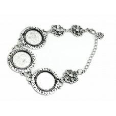 Bracelet Argenté Cabochon 18mm pour la Création de Bijoux Fantaisie - DIY