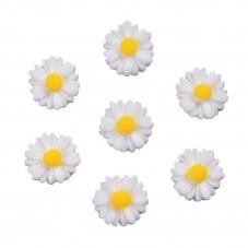 5 Cabochons Mini Fleur Marguerite 11mm pour la Création de Bijoux Fantaisie - DIY