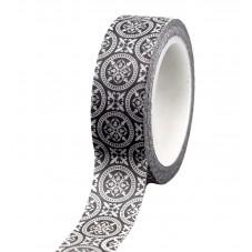 Masking Tape Washi Noir et Blanc 15mm