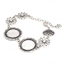 Bracelet Argenté Cabochon 20mm