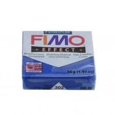 FIMO Effect N°302 Bleu Pailleté Pain 56g