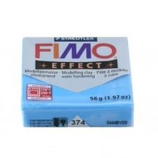 FIMO Effect N°374 Bleu Translucide Pain 56gr