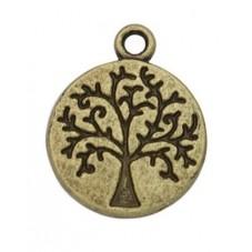 5 Breloques Arbre de Vie Bronze 14mm pour la Création de Bijoux Fantaisie - DIY