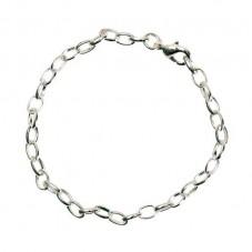 2 Supports Bracelet Argenté 21cm pour la Création de Bijoux Fantaisie - DIY