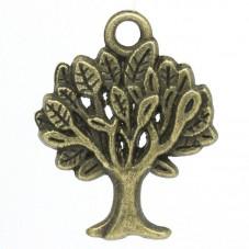 5 Breloques Arbre Bronze 22x17mm pour la Création de Bijoux Fantaisie - DIY