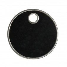 2 Breloques Sequin Email Noir 16mm pour la Création de Bijoux Fantaisie - DIY